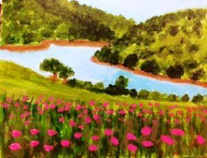 hills-with-pink-flowers-300x229
