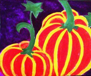 two-pumpkins-painting